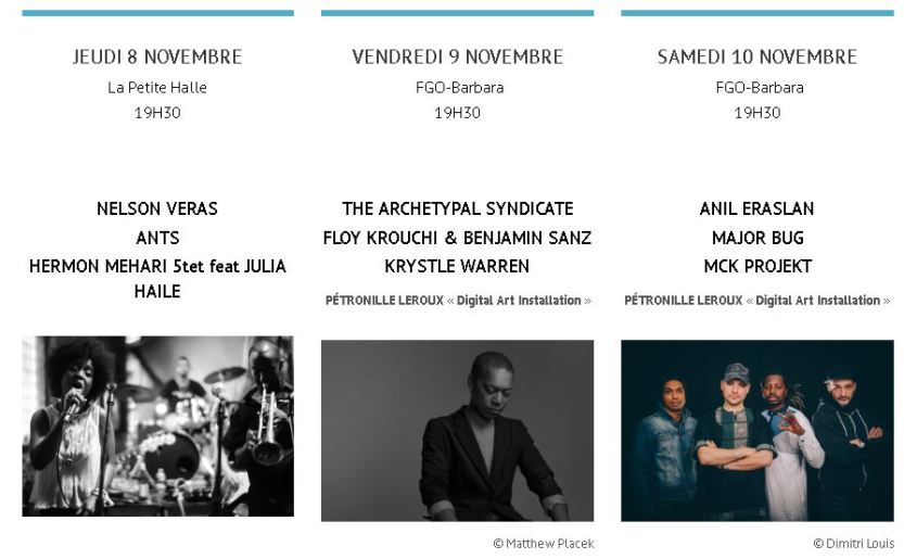 Programmation Mirr Jazz Days 2018